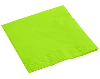 150-200 Lime Green Beverage Disposable Napkin, Wedding Napkins, Napkins, Beverage Napkins, Wedding, Party, Wedding Supplies, Party Supplies