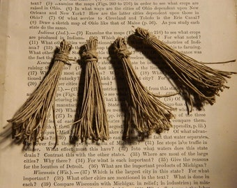 Hemp Tassels Handcrafted Boho DIY crafting tassels