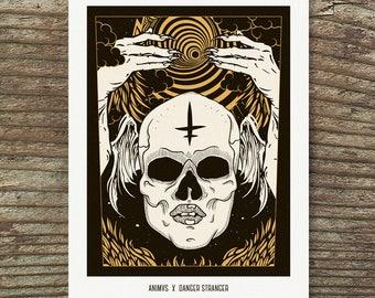 """animvs X danger stranger – Art Print 13x19"""""""