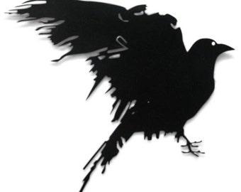 Raven Metal Silhouette