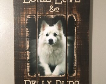 Dog Love Distressed Wall Hanging