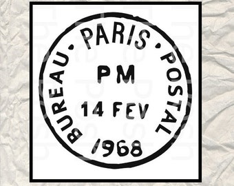 French Postal Stamp - 8 x 8 wedding stencil - Use for signs - Banner - Wedding