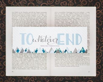 To Whatever End - Throne of Glass inspired bookmarks