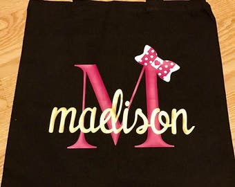 Personalized Monogrammed- Tote Bag