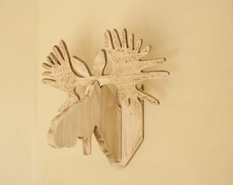 Handcrafted Moose Head Wall Hanging