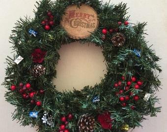 Front Door Wreath, Christmas Wreath, Wall Decoration, Holiday Wreath, Christmas Decor