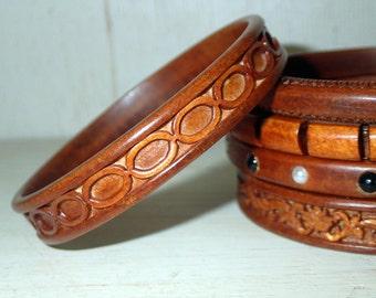 Beautiful  handmade wooden bangle bracelet
