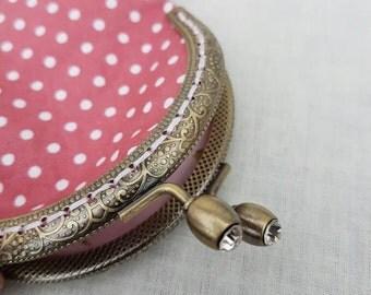 Pink Polka Dot Coin Purse/Change Purse