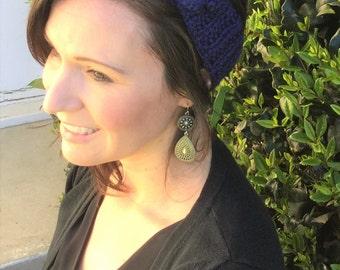 Headband Blue with Flower
