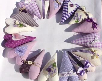 Teacher gift - sweet purple hearts decor with lavender (16 pcs)