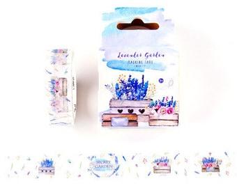 Japanese Washi Tape, Masking Tape, Journal Tape, Decorative Tape, Planner Sticker,Purple—Provence Love