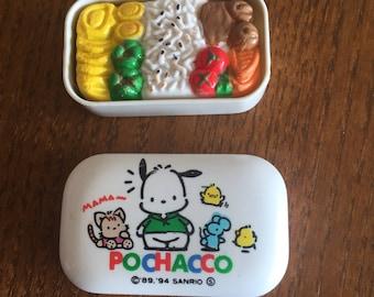 1994 vintage super rare Pochacco eraser with plastic case from SANRIO japan