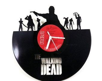The walking Dead Vinyl Clock