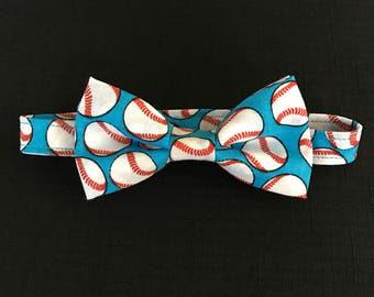 Boys Baseball Bow Tie, Baseball Bow Tie for Toddlers, Adjustable Bow Tie for Boys, Baby Boys Baseball Bow Tie, Kids Adjustable Bowtie