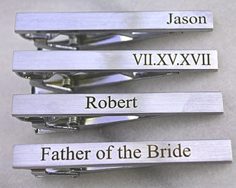 Tie Clip Personalized, Custom Tie Bar Clip, Custom Tie Clip, Personalized Tie Bar, Tie Tack, Wedding Favors, Wedding Gift, Gifts for Usher