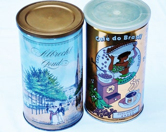 Brocante coffee cans