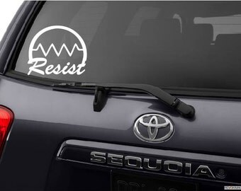 Science Decal, Resist Decal, Science Bumper Sticker, Resist Bumper Sticker, Resist, pro science car window wall decal graphic bumper sticker