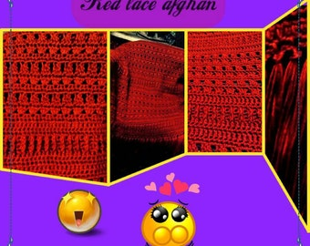 Red lace afghan