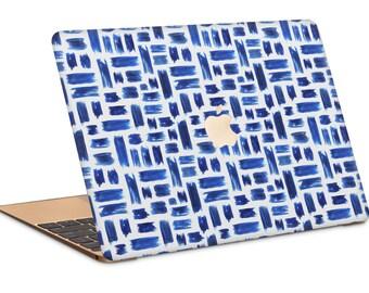 Blue Paint Strokes Macbook Case