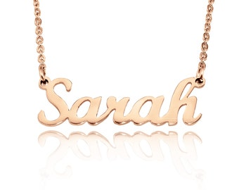 Rose Gold Name Necklace, Name Necklace, Personalized Name Necklace, Custom Name Necklace Rose Gold Only 49