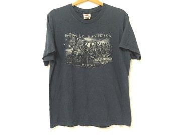 Sale!! Sale!! Vintage Harley Davidson T-shirt Large Mens Rare