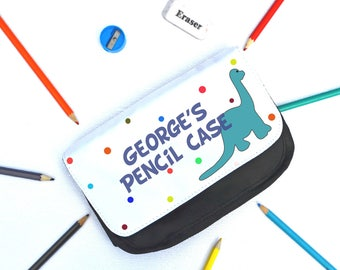 Personalised Pencil Case, dinosaur,  pencil case, name, back to school, children,