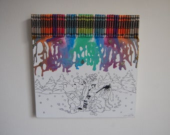 Winnie The Pooh and Friends Melted Crayon Art