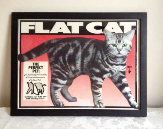 FLAT CAT the Perfect Cat, a rare cut-out by Blue Q