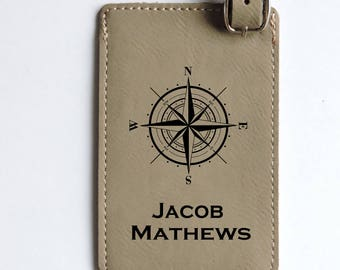 Luggage Tag- Groomsmen -Wedding Party Gifts- Leather Luggage Tags Personalized for Groomsmen & Bridesmaids, Best Man, Custom