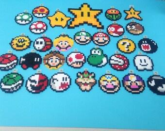 Super Mario Bros Christmas ornament perler bead