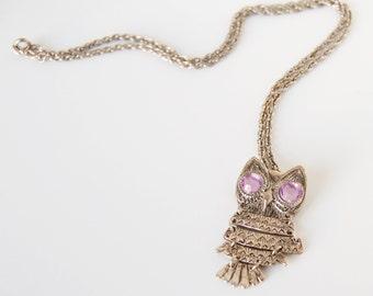 REDUCED Vintage Owl Pendant