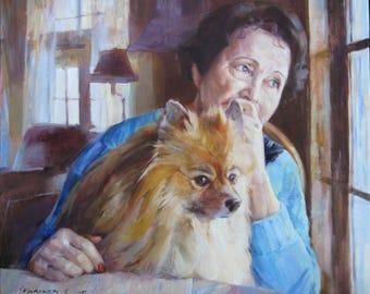 Commission dog portrait, Commission pet portrait, Commission pet painting, Dog custom painting, Pet custom portrait, Custom Dog painting