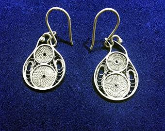 Sterling Silver Earrings High Quality Handmade Filigree made in Macedonia