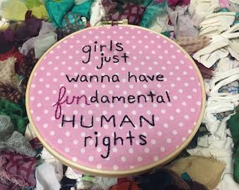Fun-damental Human Rights Embroidery