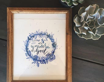 Psalm 66:5 Framed Watercolor