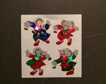 Sandylion vintage rare shiny dancing mice stickers