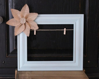 Light Blue 8x10 lightly distressed Frame *FREE SHIPPING US