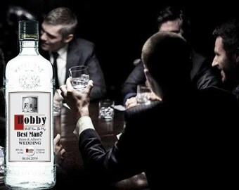 Personalized Vodka Labels (Wedding Gift)