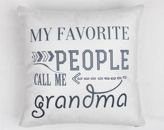 New grandma gift, Grandmother gift, Gifts for grandma, Mothers day gift for grandma, Grandparent Gift, Grandma Pillow, Decorative Pillow