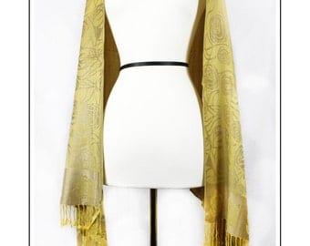 Pashmina Yellow Shawl