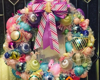 Shabby Chic Vintage Easter Eggs Ornaments Wreath