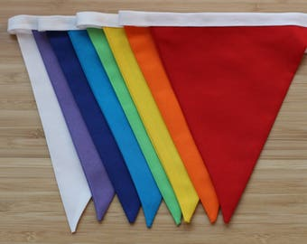 Rainbow bunting , rainbow garland, multicoloured bunting, handmade item