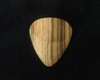 Handmade Zebrano Wood Guitar Pick