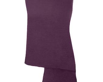 Plum Purple Pashmina / Plum Purple Shawl / Plum Purple Wrap - 100% Cashmere - Handmade in Nepal - Pashminas and Wraps