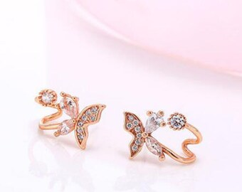 rose gold earrings, stud earrings