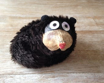 CLEARANCE - Funny Hedgehog wooden giant seed and rice to put on his shoulder