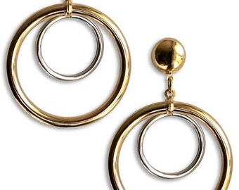 Anita Pallenberg Inspired Double Hoop Earrings
