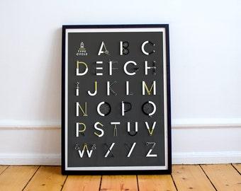 Type-Cycle Alphabet