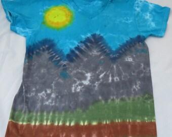 Tie Dye Scenic View T Shirt- Medium