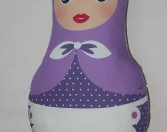 Matryoshka purple cushion